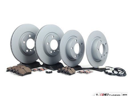 ES#2770401 - 34119804829KT11 - Front & Rear Brake Service Kit - Featuring Zimmerman rotors and Akebono pads - Assembled By ECS - MINI