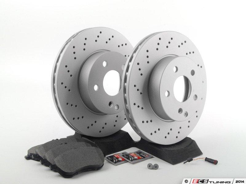 Ecs news mercedes benz w204 c300 brake service kits for Mercedes benz c300 brake rotors
