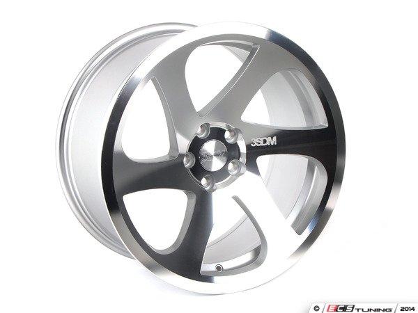 """ES#2770066 - 3S6991CKT - 19"""" Style 0.06 Wheels - Staggered Set Of Four - 19""""x8.5"""" ET42 / 19""""x10"""" ET35 - CB66.56 5x112 Silver/Polished - 3SDM - Audi"""