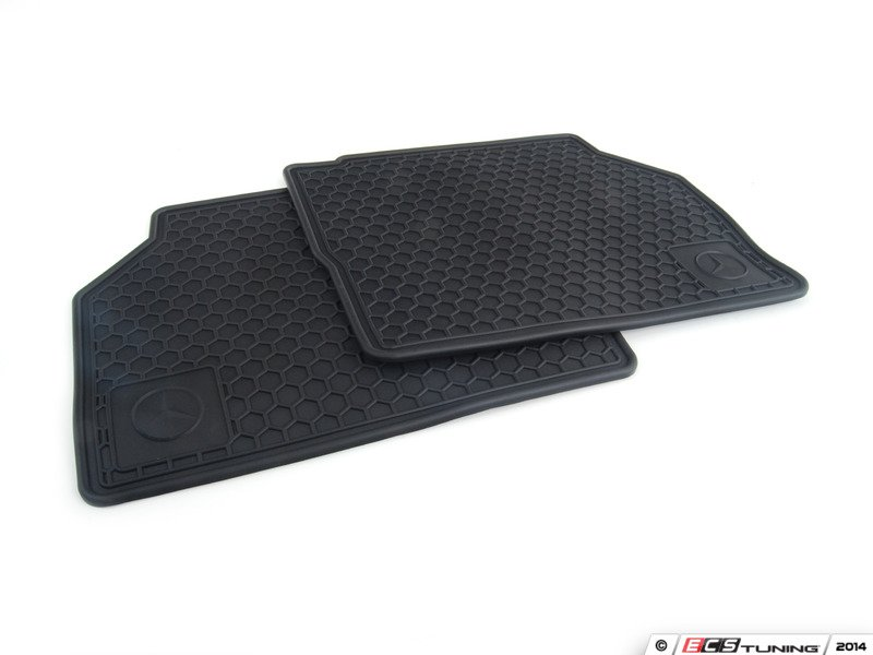 Genuine mercedes benz q6680346 all weather rubber for Floor mats for mercedes benz