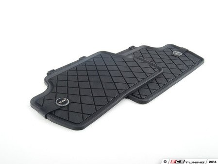 ES#2715036 - 51472354164 - Essentials Rear Rubber Factory Floor Mats Set Black - Priced As Set  - Replace or upgrade to factory MINI mats - Genuine MINI - MINI