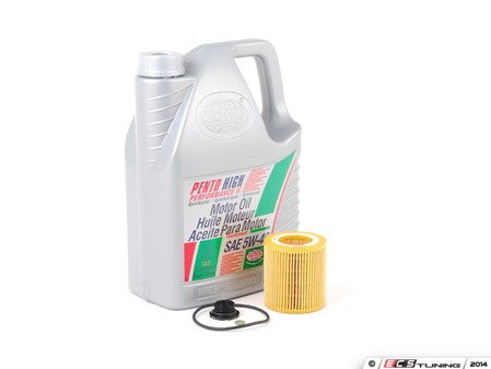 ES#2794861 - 11427640862KT3 - Oil Service Kit - Includes Pentosin synthetic engine oil, filter with o-ring, and drain plug with o-ring - Assembled By ECS -