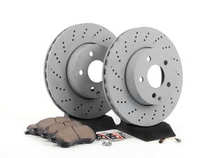 ES#2804160 - 0054201220KT8 - Front Brake Service Kit  - Featuring Genuine Mercedes-Benz Rotors and Akebono-Euro Ceramic Pads - Assembled By ECS - Mercedes Benz