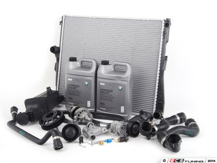 ES#2608753 - 17113400013KT - ECS Cooling System Refresh Kit - Level 3 - The ultimate cooling refresh kit - with aftermarket components, including an ECS Aluminum Pulley and featuring a GEBA water pump - Assembled By ECS - BMW