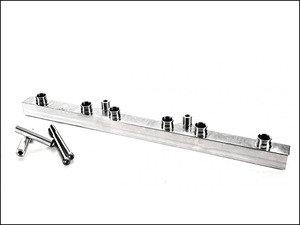 ES#2794191 - IEFUVV1RW - Billet Fuel Rail - Raw Finish - Performance 1 piece fuel rail with style - Integrated Engineering -