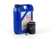 ES#2598111 - 20TPRMOILKT -  Oil Service Kit - Includes Liqui Moly oil, Mann filter, and drain plug - Assembled By ECS - Volkswagen