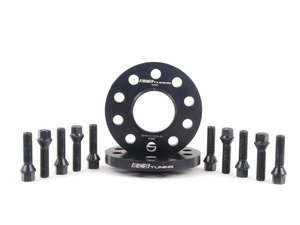 ES#2748287 - 002411ECS03AKT1 - Wheel Spacer & Bolt Kit - 15mm With Black Conical Seat Bolts - Complete kit for two wheels, comes with everything you need to install spacers on your aftermarket wheels - ECS - Audi