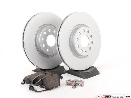 ES#2594016 - 40454104KT2 - Front & Rear Brake Service Kit - Featuring Meyle rotors and Vaico semi metallic pads - Assembled By ECS - Audi