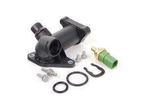 ES#2804114 - 058121132CKT - Cooling Flange Replacement Kit - Cure the common coolant leak coming from the back of your engine compartment - Assembled By ECS - Audi