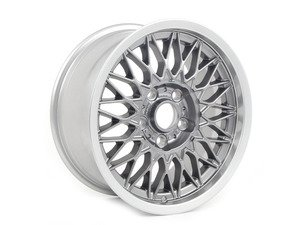"ES#3046169 - 36112226804 - 16"" Cross-Spoke Nogaro Silver Style 5 Wheel - Priced Each - 16x7.5 ET27 72.6mm CB. From the Euro E30 M3. - Genuine European BMW -"