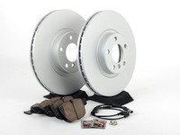 ES#2777485 - 34116793244KT7 - Front Brake Service Kit  - Featuring Meyle rotors and Akebono Euro Ceramic pads - Assembled By ECS - BMW