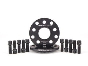 ES#2748252 - ECS20255571WBKT - ECS Wheel Spacer & Bolt Kit - 10mm With Black Ball Seat Bolts - Comes with everything you need to install spacers on two wheels - ECS - Audi Volkswagen