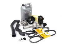 ES#2635524 - 11517527910KT7 - ECS Cooling Maintenance Kit - Level 2 - Stop your cooling problems before they start - featuring a GEBA water pump with a metal impeller, water pump pulley and accessory belts - Assembled By ECS - BMW