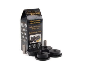 ES#2650952 - PFR5-3608BX2 - Race Polyurethane Rear Trailing Arm Bushing Set - Helps maintain proper suspension geometry for improved handling and less rear steer feeling. Bushing located in the forward position of the rear trailing arm. - Powerflex Black Series - BMW