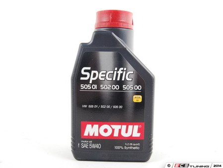 ES#261371 - 842411 - Specific 505.01 / 502.00 Engine Oil (5w-40) - 1 Liter - 100% Synthetic engine oil designed around your Volkswagen & Audi engine. This oil is designed to handle the long oil change intervals recommended in your owners manual. - Motul - Audi Volkswagen