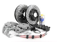 ES#2718597 - 34116773201KT2 - OE Front Big Brake Kit - Upgrade to 348x30mm ECS 2-piece rotors and larger calipers from the 335i - Assembled By ECS - BMW