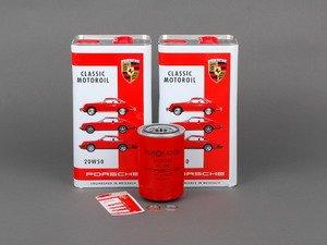 ES#2539491 - 93010776401KT - Air-Cooled 911 Oil Change Kit 20w-50 - Featuring Genuine Purolator Oil Filter and Genuine 20w-50 Mineral Oil - Genuine Porsche - Porsche