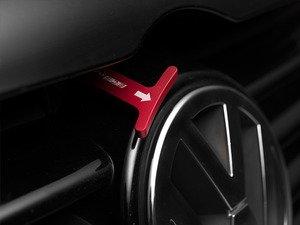 ES#2748847 - 4200ECS02A-03 - Billet Aluminum Hood Pull Release Rod - Red Anodized - Billet aluminum hood release replacement for plastic OEM hood pull - ECS - Volkswagen