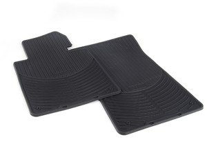 ES#2608675 - 82550151192KT - All Weather Rubber Floor Mat Set - Black - Complete set of four with hardware - Genuine BMW - BMW