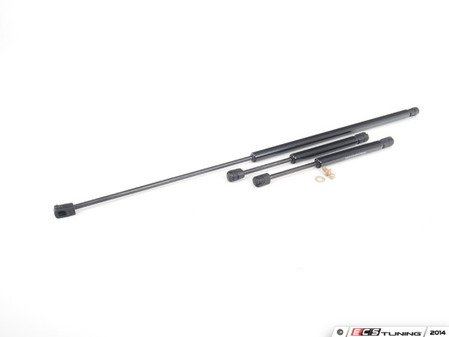 ES#2594748 - 3B5827550EKT - B5.5 Hood And Trunk Strut Kit - Gas strut kit for the front and rear of your sedan - Assembled By ECS - Volkswagen