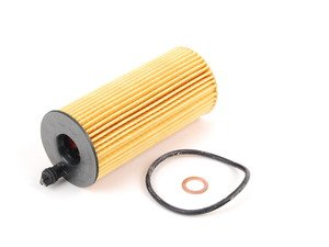 ES#2537115 - 11428507683 - Oil Filter Kit - Includes filter, O-ring, and copper washer. - Genuine BMW - BMW