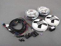 ES#2798637 - 63122288981 - LED Driving Lights Retrofit Kit - Chrome - Add rally lights to your MINI grille - Genuine MINI - MINI
