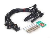 ES#2538560 - 09485KT - Ignition Service Kit - Stage 1 - Includes plug wires and spark plugs - Assembled By ECS - Audi