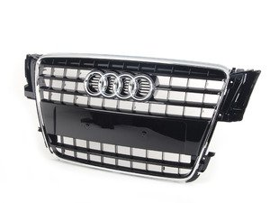 ES#517603 - 8T0853651ET94 - Grille Assembly - Glossy Black - Includes the chrome Audi rings - Genuine Volkswagen Audi - Audi