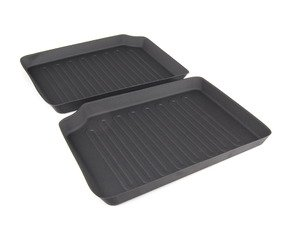 ES#2530954 - 82112290556 - Rear Floor Mat Liners Black - Set - All Weather Floor Mats - Genuine MINI - MINI