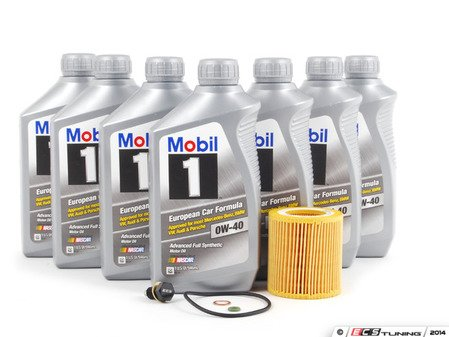 ES#2804124 - 11427566327KT2 - Mobil 1 Oil Change Kit / Inspection I - Includes seven quarts of Mobil 1 0w-40 synthetic engine oil, Mann oil filter and ECS magnetic drain plug for superior engine protection - Assembled By ECS - BMW