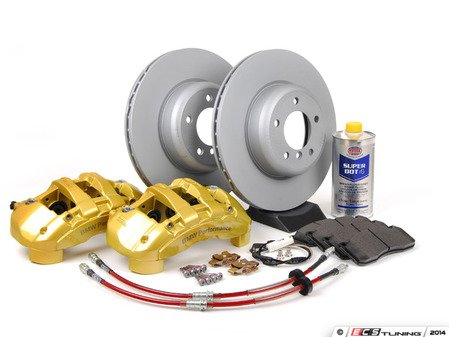 ES#2795554 - 34110444738KT4 - Front 6-Piston Big Brake Kit (338x26) - Upgrade to Zimmerman 1-piece coated rotors and 6-piston calipers with OE Textar pads - Assembled By ECS - BMW