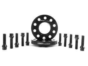 ES#2748292 - 6-ECS-024 - Wheel Spacer & Bolt Kit - 20mm With Black Conical Seat Bolts - Complete kit for two wheels, comes with everything you need to install spacers on your aftermarket wheels - ECS - Audi