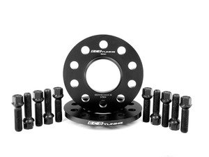 ES#2748286 - 002411ECS03AKT3 - Wheel Spacer & Bolt Kit - 15mm With Black Ball Seat Bolts - Complete kit for two wheels, includes everything you need to install spacers - ECS - Audi
