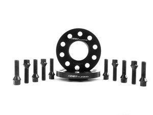 ES#2748288 - 6-ECS-023 - Wheel Spacer & Bolt Kit - 17.5mm With Black Ball Seat Bolts - Add some style to your Audi with these wheel spacers - ECS - Audi