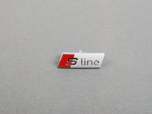 "ES#2105226 - 8X0419685 - Steering Wheel Badge - ""S-Line"" - Replacement for your scratched or damaged emblem - Genuine Volkswagen Audi - Audi"