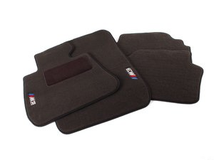 ES#2498824 - 82112293533 - ///M3 Carpeted Floor Mats - Black - Complete set of four embroidered with M3 logo - Genuine BMW - BMW