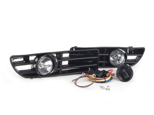 ES#10378 - 1j0998011 - Bumper Fog Light Kit - With Euro Switch - Complete kit with everything you need, including bulbs. - ECS - Volkswagen