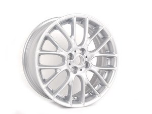 "ES#240672 - 36116784130 - R112 MINI Challenge Cross Spoke Wheel 17"" (4x100) Silver - Priced Each - 17 x 7J ET:48 - Genuine MINI - MINI"