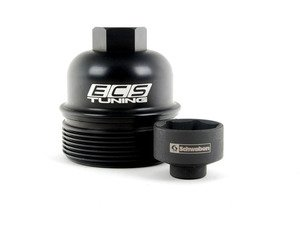 ES#2772003 - 003270ECS01AKT2 - Billet Aluminum Oil Filter Housing With Removal Tool  - Aluminum replacement for plastic OE filter housings with the 32mm socket - ECS - Audi