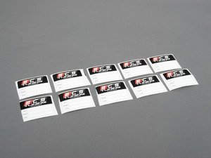 ES#2808806 - 009012ecs0110KT - Oil Change Sticker - Pack Of 10 - Be sure to remind yourself when it will be time to order your next Oil Service Kit from ECS Tuning - ECS - Audi BMW Volkswagen Mercedes Benz MINI Porsche