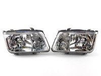 ES#2806887 - HD-JH-VJ99-C - Chrome Headlights - Pair - With fog lights, with clear turn signal lenses - Spyder - Volkswagen