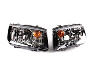 ES#263005 - MK4GLIHKOEM -  Smoked GLI Headlights - Pair - With fog lights, with amber turn signal lenses - Genuine Volkswagen Audi - Volkswagen