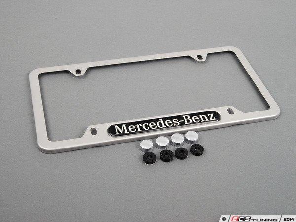 Genuine mercedes benz q6880100 license plate frame for Mercedes benz license plate holder
