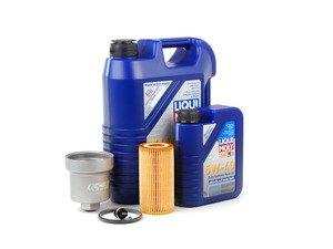 ES#2784981 - MK525OILKT4 - Oil Service Kit - With Magnetic Drain Plug & Silver Aluminum Oil Filter Housing - Includes Liqui Moly oil, Hengst filter, magnetic drain plug, and silver aluminum filter housing - Assembled By ECS - Volkswagen