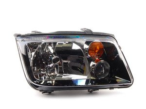 ES#6396 - 963660521 -  Smoked GLI Headlight - Right - With fog light, with amber turn signal lens - Hella - Volkswagen