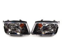 ES#4138 - MK4GLIHK -  Smoked GLI Headlights - Pair - With fog lights and amber turn signal lenses - Hella - Volkswagen