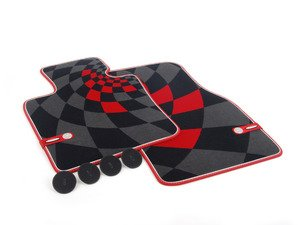 ES#2714989 - 51472354174 - Front Carpet Factory Floor Mats Set JCW Pro - Priced As Set  - Replace or upgrade to factory MINI mats - Genuine MINI - MINI