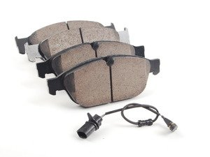 ES#2681085 - 4G0698151B - Front Euro Ceramic Brake Pad Set - For those looking for a low dust replacement brake pad - Akebono - Audi