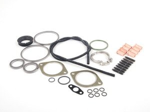 ES#2628680 - 11127593376KT1 - N54 Turbocharger Installation Kit - Rear - All hardware required for a successful install utilizing high quality aftermarket components - Assembled By ECS - BMW