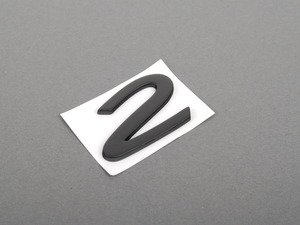 "ES#1465591 - 9645592410170C - ""2"" Logo - Black - ""2"" emblem for Carrera 2 engine lid - Genuine Porsche - Porsche"